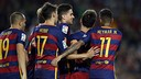 Bartra, Neymar and Messi all scored against Levante at Camp Nou on Sunday night. / MIGUEL RUIZ-FCB