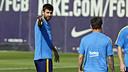 Gerard Piqué in training on Tuesday / MIGUEL RUIZ - FCB