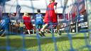 Young Barça fans play football in support of 'Tant se val d'on venim' / VÍCTOR SALGADO-FCB