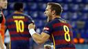 Victor Tomás celebrating one of his goals / MIGUEL RUIZ-FCB