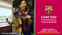August winner of the Camp Nou Experience competition