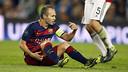 Andrés Iniesta est sorti sur blessure face au Bayer / MIGUEL RUIZ - FCB