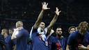 Luis Suárez celebrating winning the Champions League last season / MIGUEL RUIZ - FCB