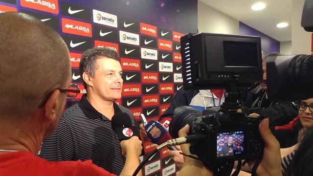 Pascual en una rùeda de prensa / FOTO:FCB
