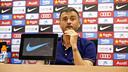 Luis Enrique in the press conference ahead of Sevilla / MIGUEL RUIZ - FCB