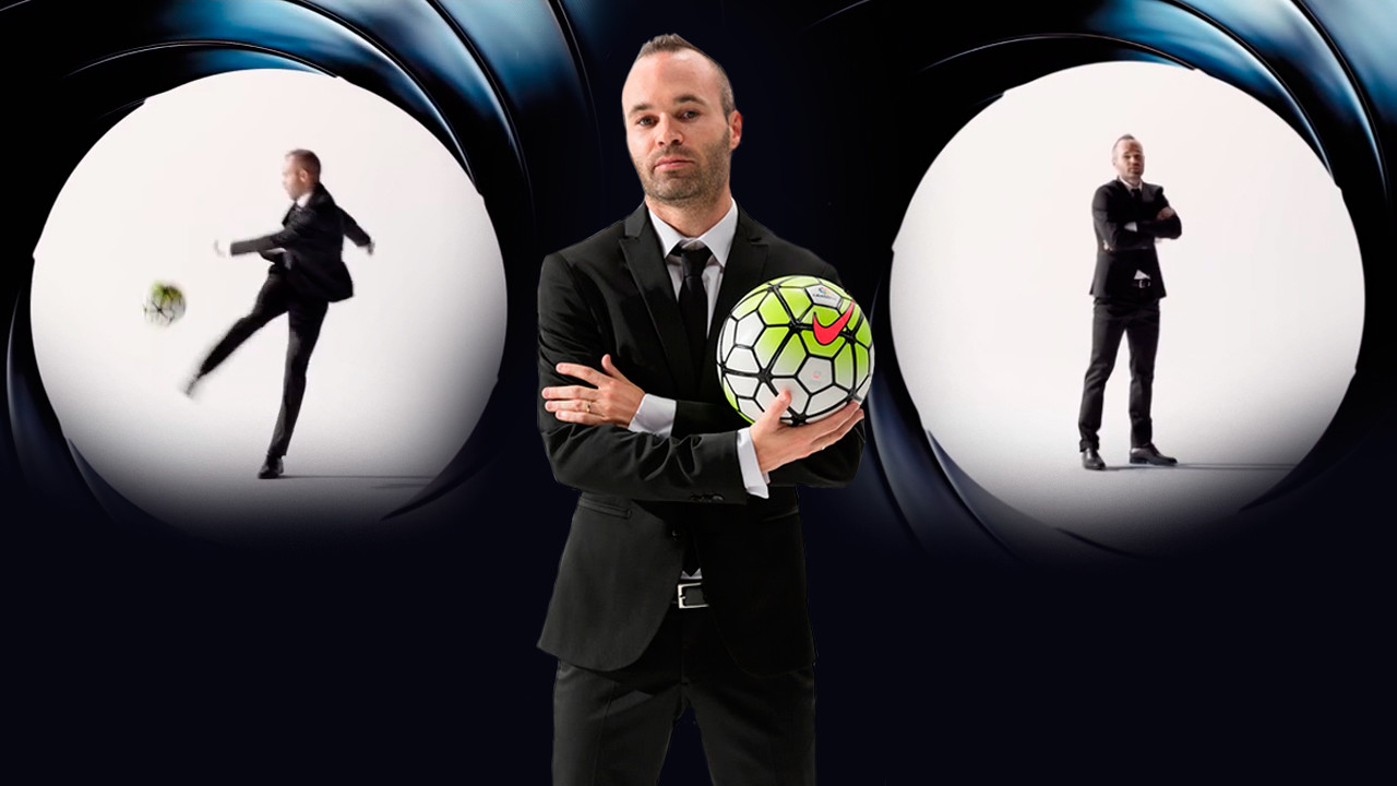 Iniesta plays James Bond in the new video promo