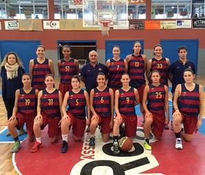 Foto d'equip del primer equip del Barça femení