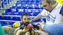 Navarro attends to the media in the Palau / VÍCTOR SALGADO-FCB