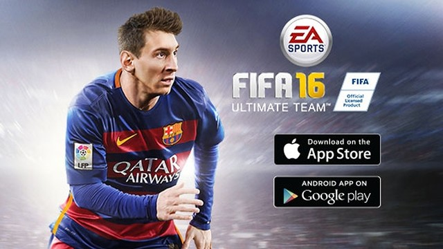 Leo Messi is on the icon for the new FIFA 16 Ultimate Team mobile app. / EASPORTS.COM