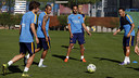 Les joueurs, pendant l'entrainement / MIGUEL RUIZ-FCB