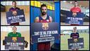 Les capitaines des sections du Barça
