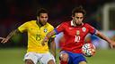 Une action du match entre le Brésil et le Chili / FIFA.COM