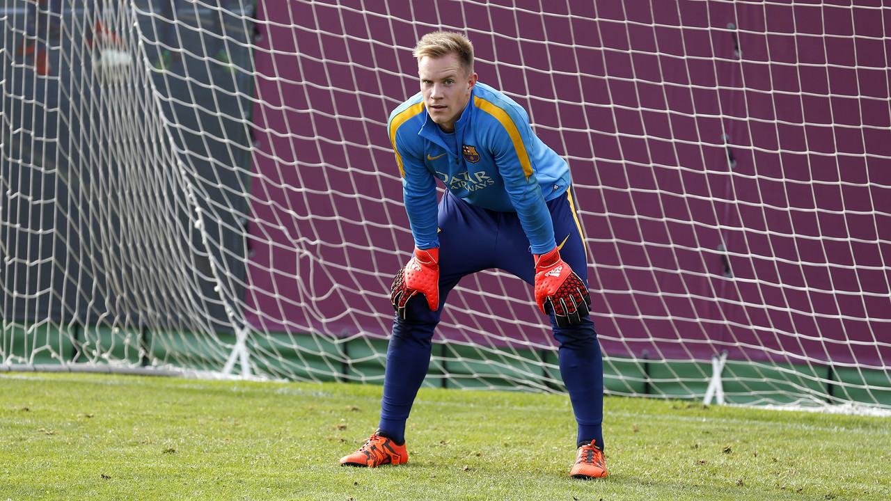 Marc-André ter Stegen s'ha reincorporat als entrenaments amb l'equip / MIGUEL RUIZ - FCB