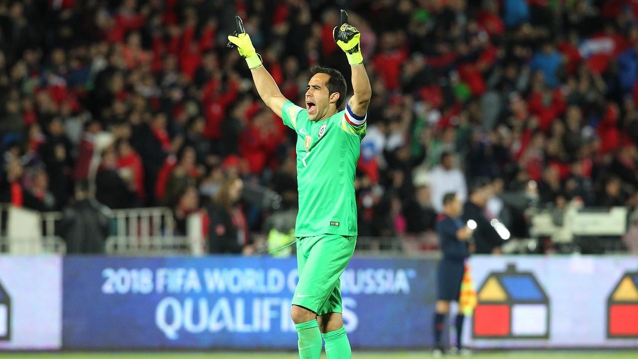 Bravo, en el darrer partit contra Brasil / ANFP Chile