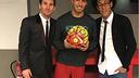Messi, Suárez et Neymar après la rencontre face à Eibar / INSTAGRAM