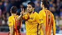 Luis Suárez opened the scoring for Barça for the second straight game. / MIGUEL RUIZ-FCB