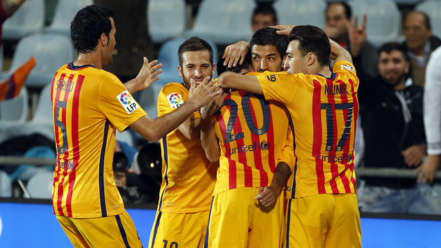 Luis Suárez has scored 11 goals in 1,380 minutes played this season. / MIGUEL RUIZ - FCB