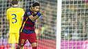 Neymar Jr, celebrando um gol contra o BATE.