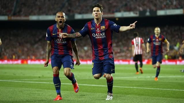 Messi celebrating his goal in the Copa del Rey final / MIGUEL RUIZ - FCB