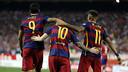 Luis Suárez, Messi et Neymar Jr, le trio d'attaque du Barça / MIGUEL RUIZ - FCB