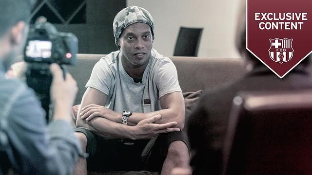 Barça legend Ronaldinho speaks in depth in this exclusive interview