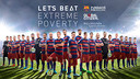The official poster of the 'Let's beat extreme poverty' campaign.
