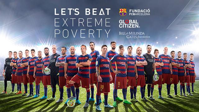 Imagen de la campaña 'Let's beat extreme poverty'.
