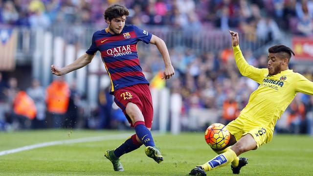 Sergi Roberto leads the Barça first team in passes this season / MIGUEL RUIZ - FCB