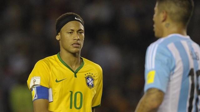 Neymar, no duelo contra a Argentina.