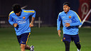 Dani Alves and Neymar rejoin training / MIGUEL RUIZ - FCB