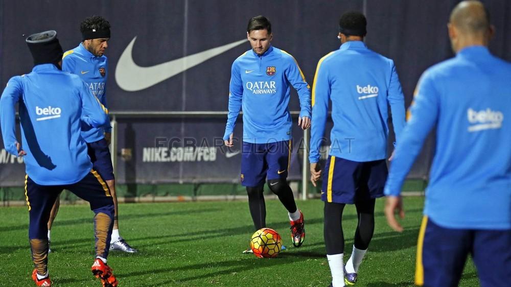 گزارش تصویری: نیمار در تمرینات بارسلونا (19/11/2015)