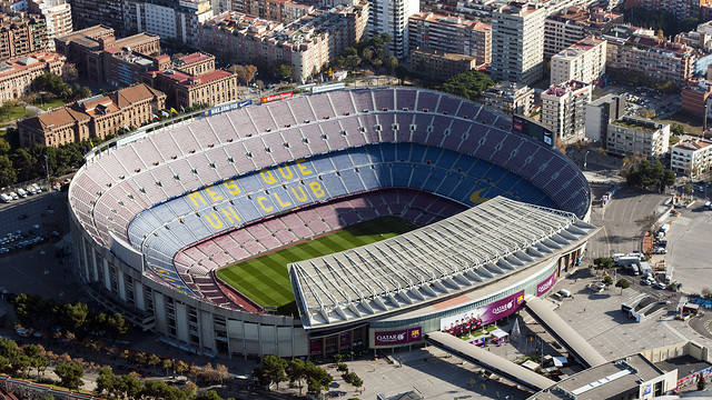 Aerial view of Camp Nou / FCB