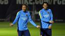 Luis Suárez et Neymar, à l'entraînement / MIGUEL RUIZ - FCB