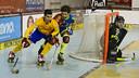 Marc Gual in action in the game / VICTOR SALGADO - FCB