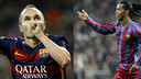Iniesta and Ronaldinho have made history against Real Madrid / FOTOMUNTATGE-FCB