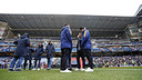 The players on the Bernabéu pitch shortly before kick-off/ MIGUEL RUIZ - FCB