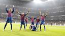 Celebració Barça Bernabéu (2011/12)