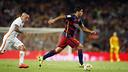 Luis Suárez durant el Trofeu Joan Gamper d'aquest estiu contra la ROma / MIGUEL RUIZ - FCB