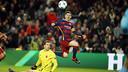 Messi scored twice in his return to Camp Nou. MIGUEL RUIZ / FCB