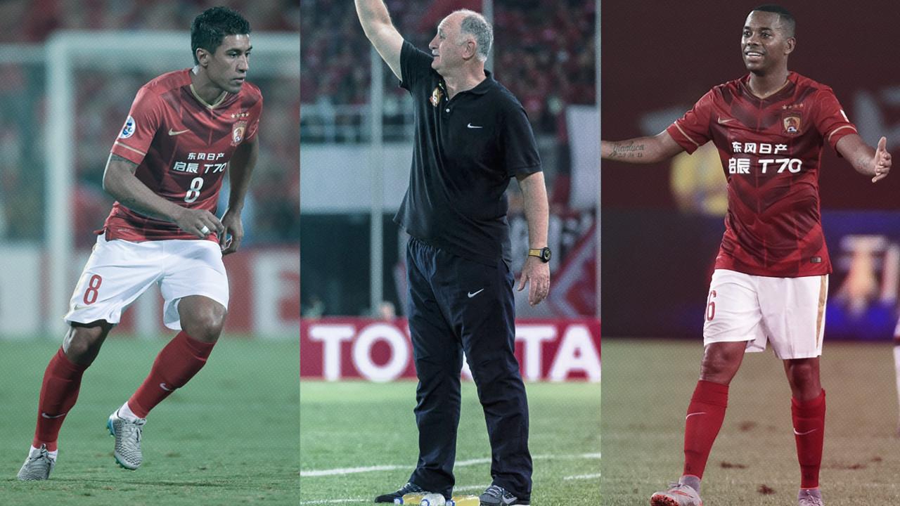 Paulinho, Scolari y Robinho pueden verse las caras con el Barça en Japón