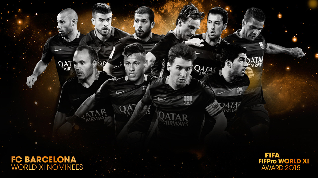 FIFA FIFPro 2015 Barça players