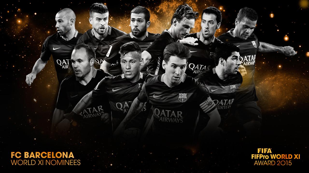 FIFA FIFPro 2015 Barça players