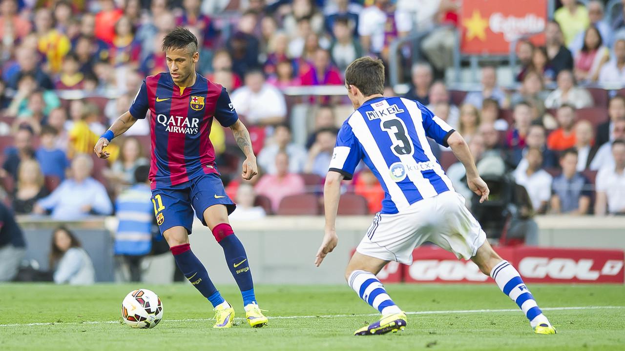 Neymar, na partida contra a Real Sociedad na temporada passada / MIGUEL RUIZ - FCB