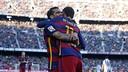 Dani Alves had two assists and Neymar had two goals on Saturday. / MIGUEL RUIZ - FCB