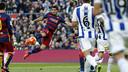 Luis Suárez scoring against Real Sociedad / MIGUEL RUIZ - FCB