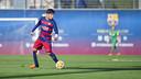 Dani Morer in action / ARCHIVO FCB