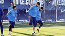 El Barça ha vuelto al trabajo para preparar el duelo de Copa contra el Villanovense / MIGUEL RUIZ - FCB