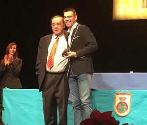 Sergio Lozano va rebre la medalla d'or de la Federació Madrilenya de futbol sala