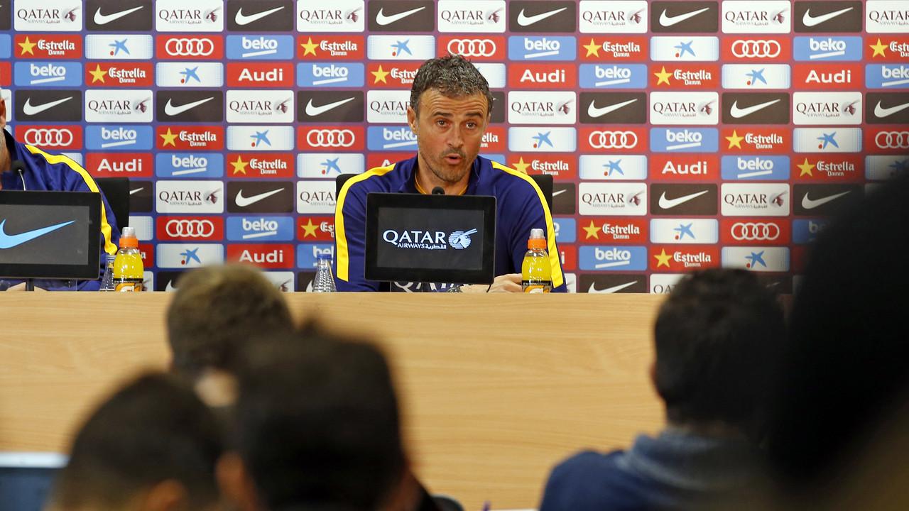 Luis Enrique during the pre-Villanovense press conference / MIGUEL RUIZ - FCB