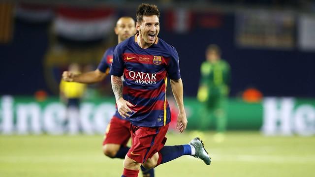 Messi lors de la Supercoupe d'Europe / MIGUEL RUIZ - FCB